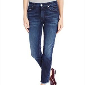 7For All Mankind High Waist Ankle Straight Jeans